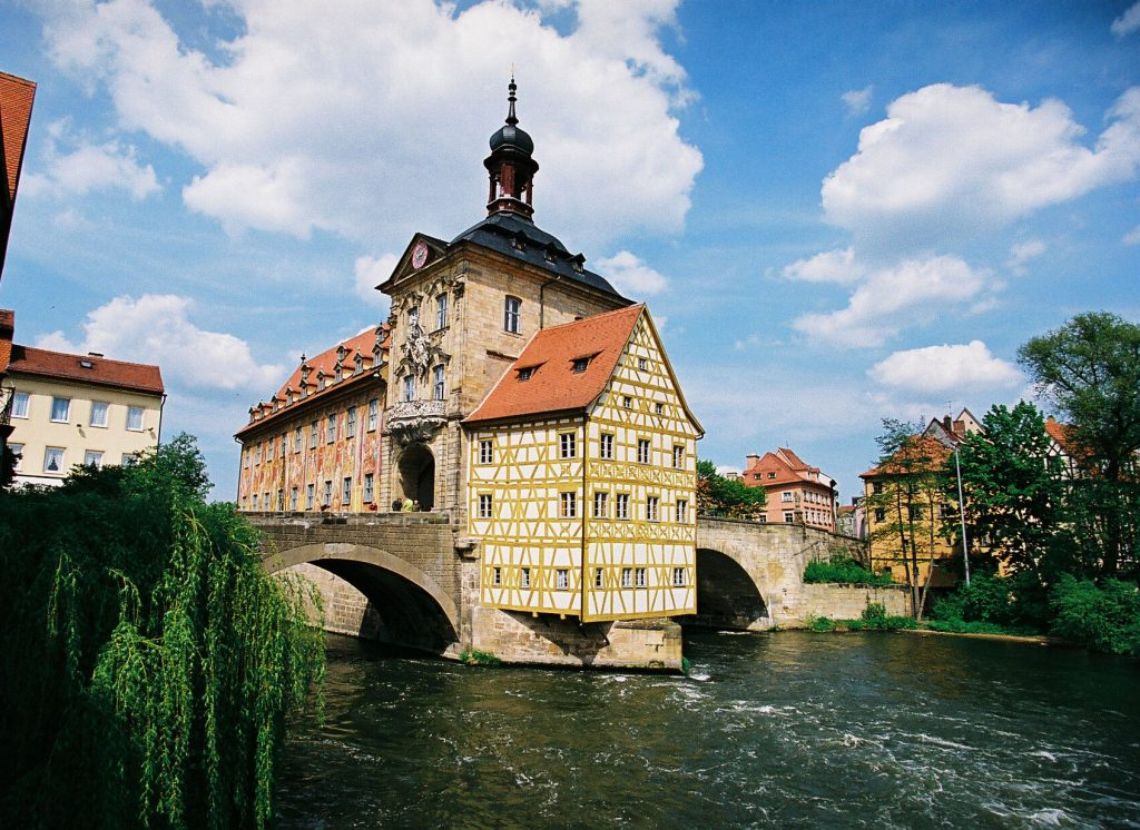 Old town hall on river Regnitz